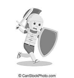 Gladiator with sword and shield