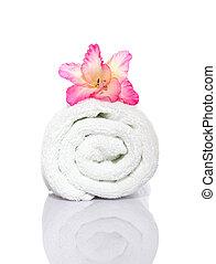 Gladiola and Towel
