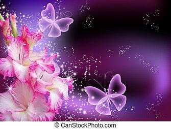 Gladiolus and stars