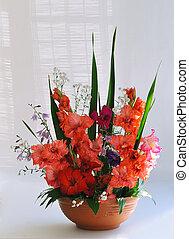 gladiolus floral composition
