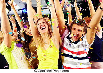 Gladness - Photo of excited teenagers raising their arms in ...