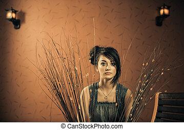 glam woman portrait