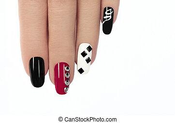 glamorös, manicure.