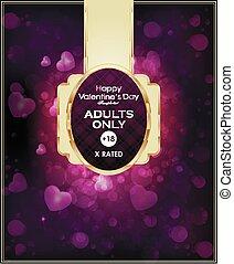glamor fashion XXX signboard. Love. valentain's day. vector illustration