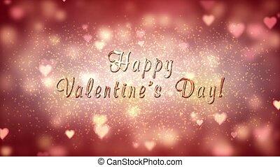 Glamor Valentine's card. 3D animation.