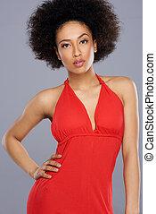 Glamorous beautiful African American woman