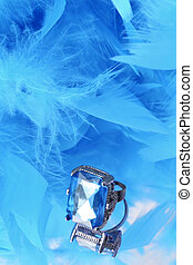glamorous blue diamond and feather boa - glamorous diamond...