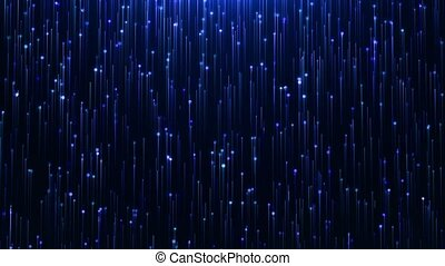 Glamorous Blue shine Line and particles on a black background