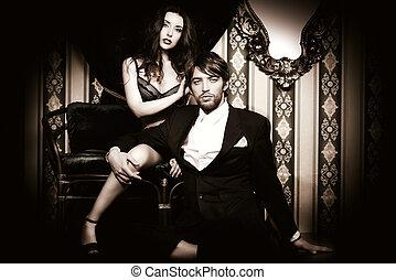 glamorous couple - Beautiful passionate couple in love. ...