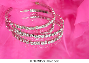 glamorous diamonds - glamorous diamond earrings on vanity...