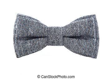 glamorous gray bow tie isolated on white background