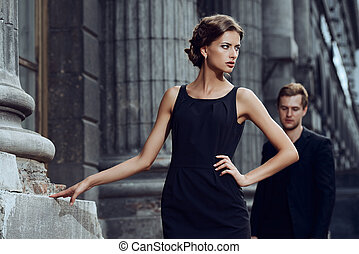 glamorous life - Fashion style photo of a beautiful couple...