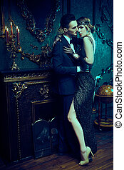 glamorous passionate lovers