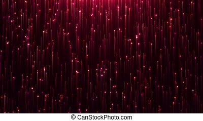 Glamorous red shine Line and particles on a black...