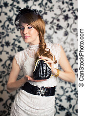 Glamorous retro-styled woman
