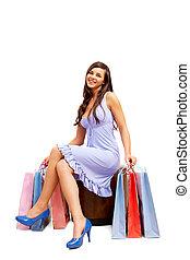 Glamorous shopper