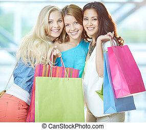 Glamorous shoppers