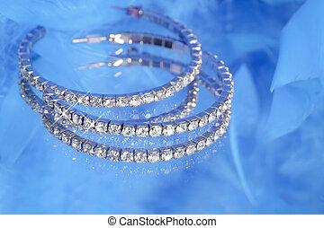 glamorous sparkling diamonds