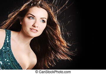Glamorous woman - A beautiful glamorous woman in front of a...