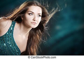 Glamorous woman