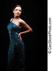 Glamorous woman dancing/posing