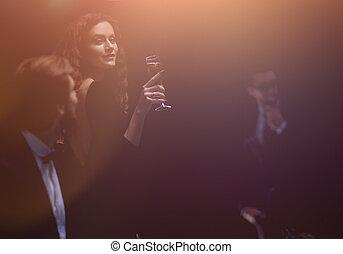 glamorous woman in a casino.