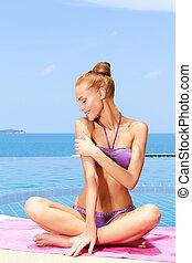Glamorous Woman In Bikini