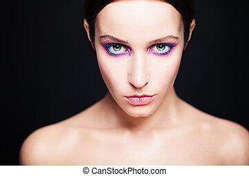 Glamorous Woman with Fashion Makeup