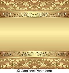 glamour background - decorative golden background - vector...