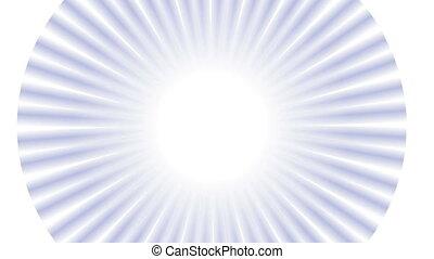 Glamour beams on white