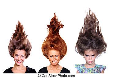 Glamour beautiful hair style