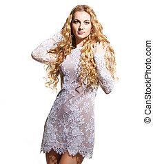 Glamour blond woman