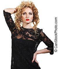 Glamour blond woman wearing