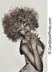 glamour, cabelo, modelo