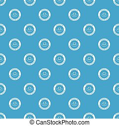 Glamour hat pattern vector seamless blue repeat for any use