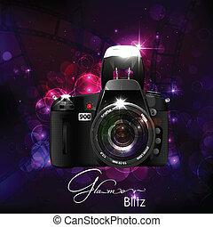 glamour, kamera, bakgrund