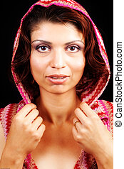 Glamour portrait of elegant sensual woman