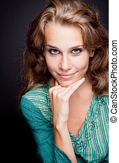 Glamour portrait of elegant stylish woman