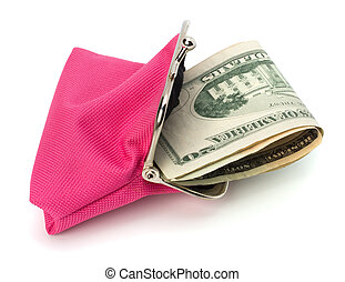 Glamour purse fill with money