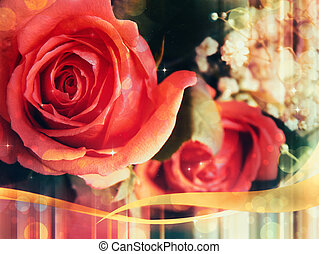Glamour roses card