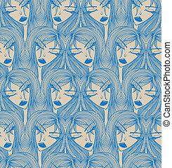 Glamour seamless pattern