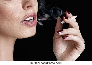 glamour smoking girl