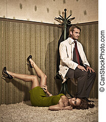 Glamour style photo of an attractive couple