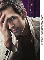 Glamour style photo of an attractive man