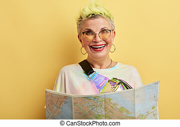 glamour teacher of Geography lesson