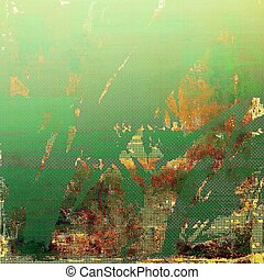 Glamour vintage frame, decorative grunge background. Aged texture with different color patterns: yellow (beige); brown; green; red (orange)