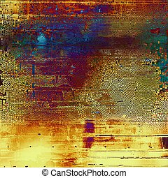Glamour vintage frame, decorative grunge background. Aged texture with different color patterns: yellow (beige); brown; green; blue; red (orange); purple (violet)