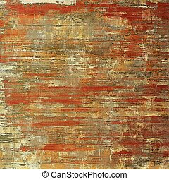 Glamour vintage frame, decorative grunge background. Aged texture with different color patterns: yellow (beige); brown; red (orange); gray; pink