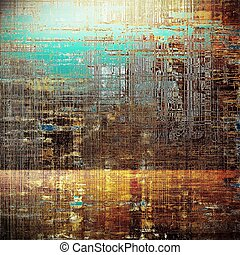 Glamour vintage frame, decorative grunge background. Aged texture with different color patterns: yellow (beige); brown; blue; red (orange); white; cyan