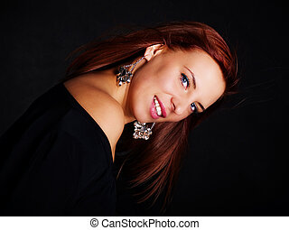 glamour woman in red hair